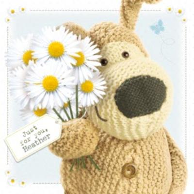 Boofle Just For You With Flowers Card