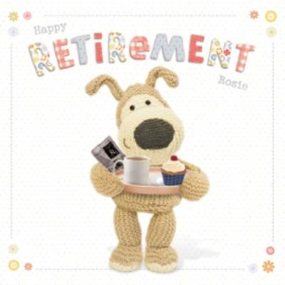 Boofle Personalised Happy Retirement Card