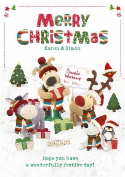 Boofle Santa Workshop Personalised Christmas Card