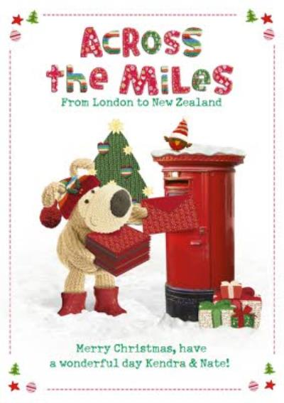 Boofle Across The Miles Personalised Christmas Card