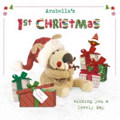 Boofle First Christmas Photo Upload Card