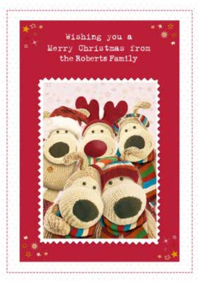 Boofle Family Photo Personalised Christmas Card