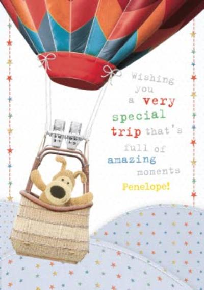 Boofle Special Trip Personalised Card
