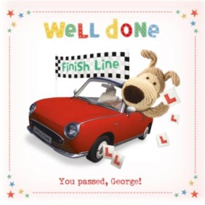 Boofle Well Done Driving Test Personalised Card