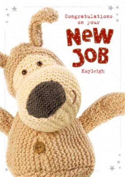 Boofle Congratulations New Job Personalised Card