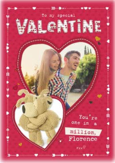 Boofle My Special Valentines Photo Upload Card