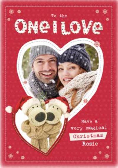 Boofle One I Love Photo Upload Christmas Card
