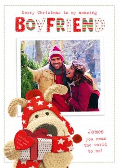 Boofle Boyfriend Christmas Photo Upload Card
