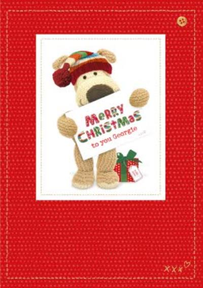 Boofle Merry Christmas Sign Personalised Card