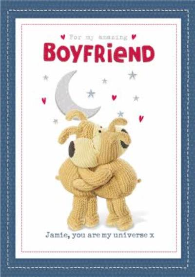 Cute Boofle To My Amazing Boyfriend Personalised Valentines Day Card