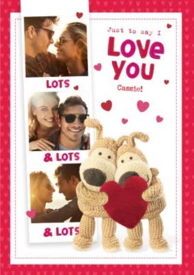 Boofle Just To Say I Love You Multi-Photo Cute Valentines Day Card