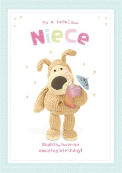 Cute Boofle Card - To my fabulous niece