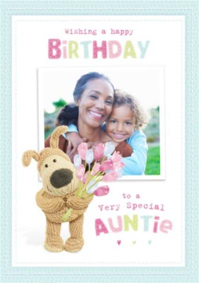 Boofle Photo upload Card - To a very special Auntie