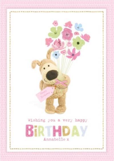 Cute Boofle Card - Wishing you a very happy birthday