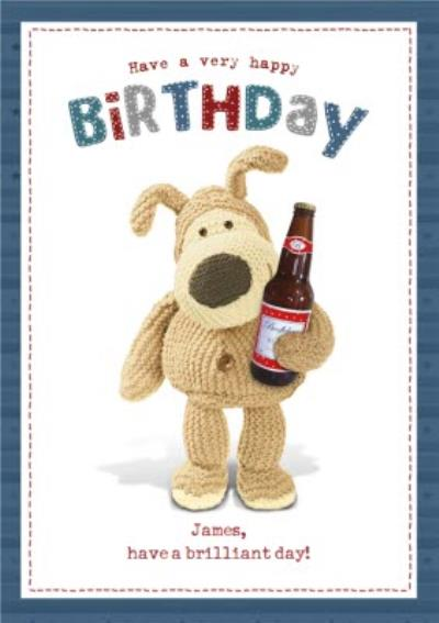 Boofle cute beer very happy Birthday Card