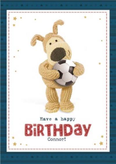 cute Boofle Football happy Birthday Card
