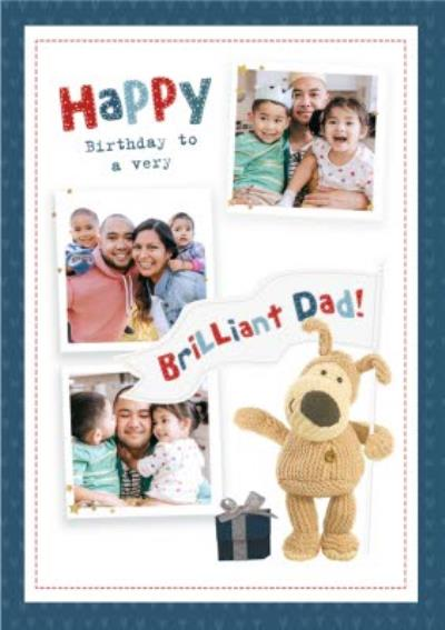 cute Boofle Happy Birthday to a very Brilliant Dad photo upload Card
