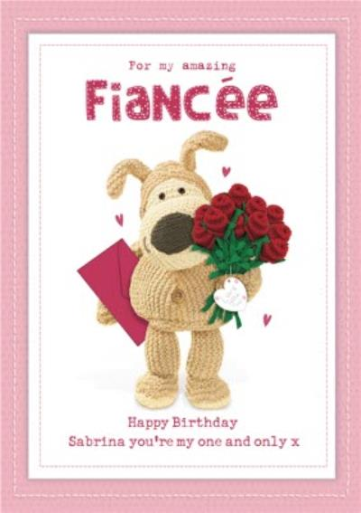 Boofle For My Amazing Fiancée Birthday Card