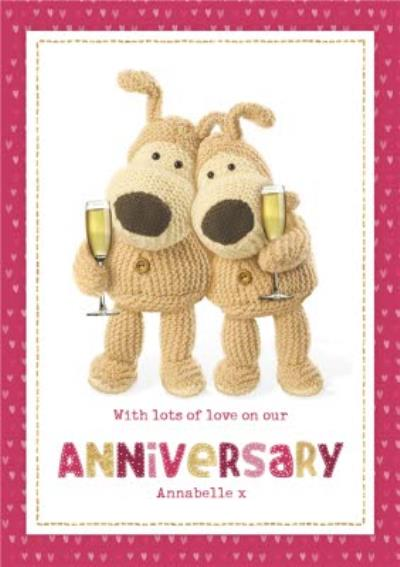 Boofle cute sentimental Lots of love on our Anniversary card
