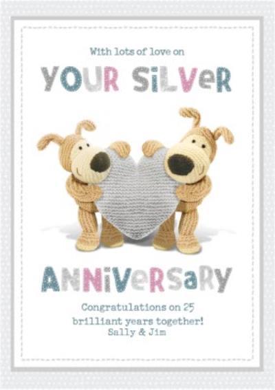 Boofle cute sentimental Boofle 25th Silver Anniversary card