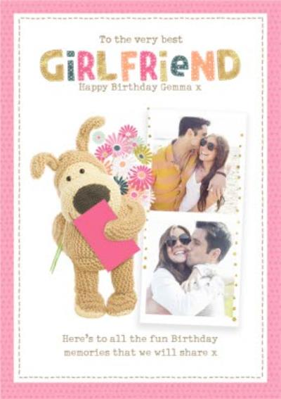 Boofle cute sentimental Best Girlfriend Birthday photo upload card