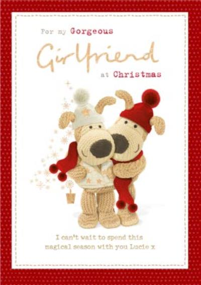 Boofle Cute Christmas Card For my Gorgeous Grilfriend
