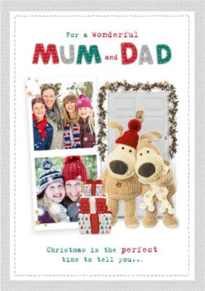 Boofle Christmas Photo Upload Card For a Wonderful Mum And Dad