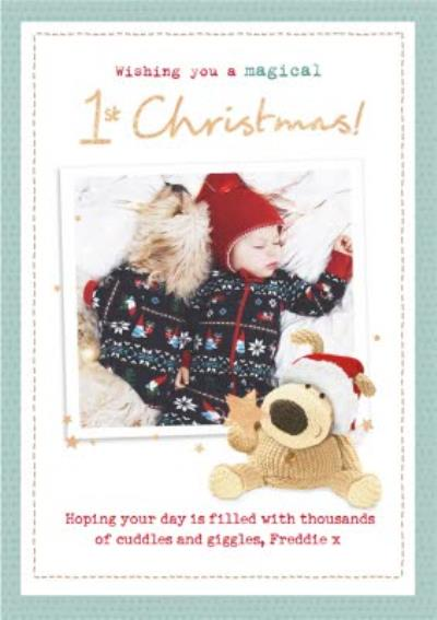 Boofle Wishing you a magical 1st Christmas Photo upload Card