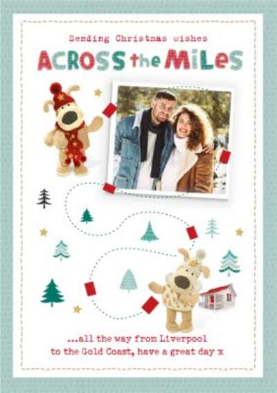 Boofle Photo upload Christmas Card Sending Christmas Wishings Across the Miles