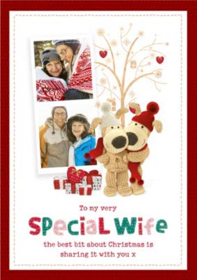 Boofle Photo upload Christmas Card To My Very Special Wife