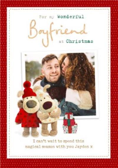 Boofle Photo upload Christmas Card For My Wonderful Boyfriend