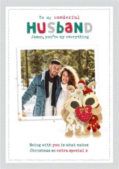 Boofle Photo upload Christmas Card To My Wonderful Husband