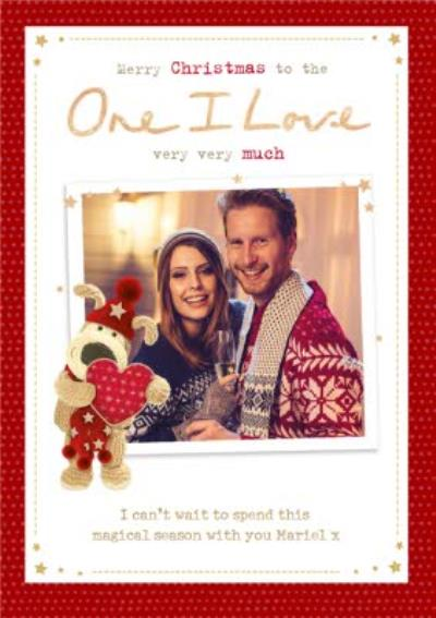 Boofle Photo upload Christmas Card To the One I Love Very Very Much