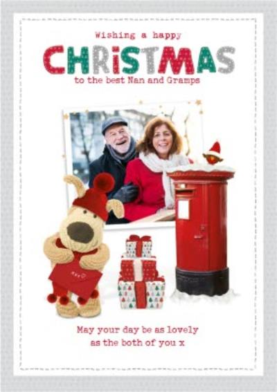 Boofle Best Nan and Gramps Photo upload Christmas Card