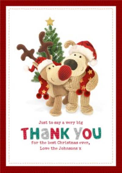 Boofle Very Big Thank You Christmas Card
