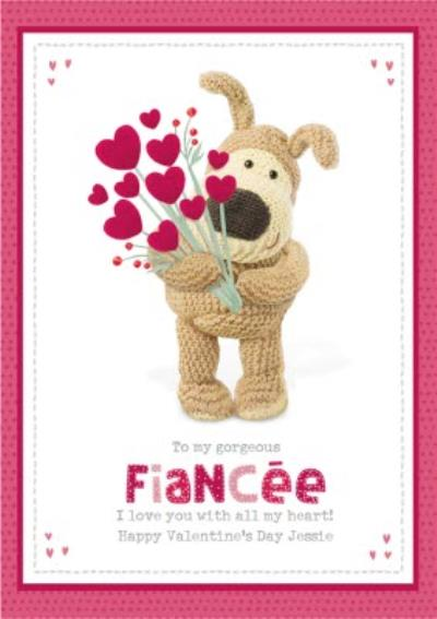 Cute Boofle To my Gorgeous Fiancee Valentine's Day Card