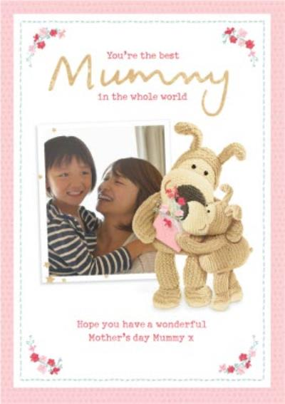Cute Boofle Best Mummy in the Whole World Photo Upload Mother's Day Card