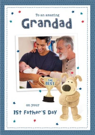 Cute Boofle To My Amazing Grandad Photo Upload First Father's day Card