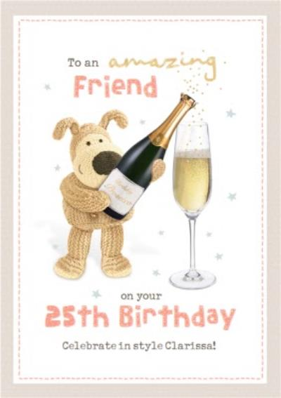 Cute Boofle To An Amazing Friend Birthday Card