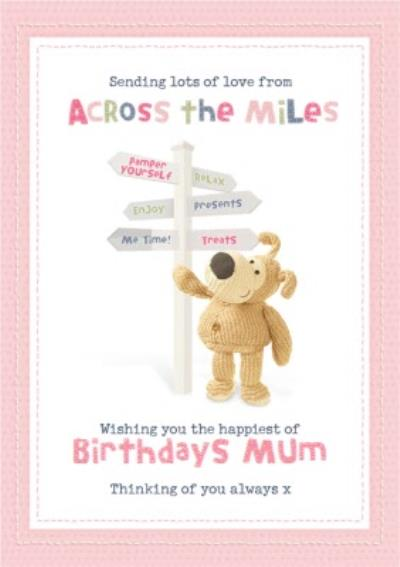 Cute Boofle Sending Lots Of Love From Across The Miles Birthday Card