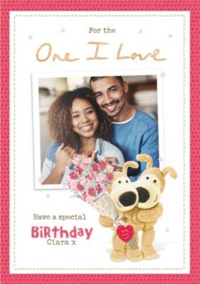 Boofle One I Love Photo Upload Birthday Card