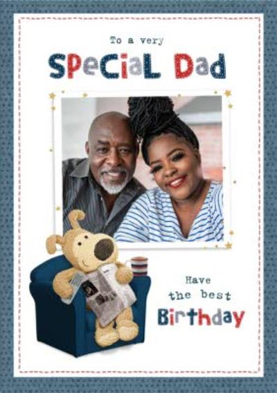 Cute Boofle Very Special Dad Photo Upload Birthday Card