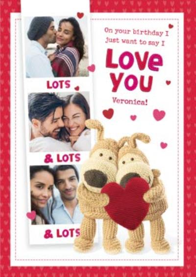 Cute Boofle Just Want to Say I love You Photo Upload Birthday Card