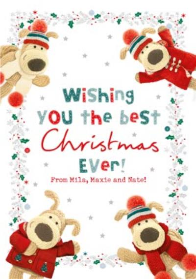 Boofle Wish You Best Christmas Ever Card