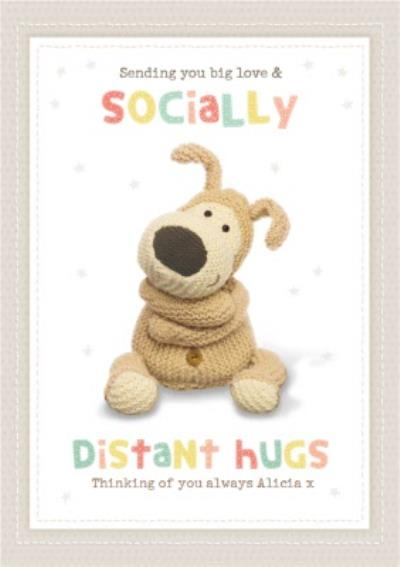 Boofle Sending You Big Love & Socially Distant Hugs Thinking Of you Card