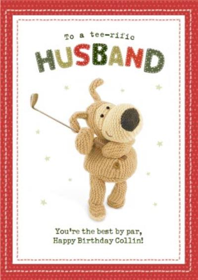 Boofle To my Teerific Husband Best By Par Birthday Card
