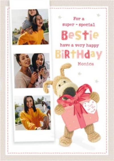 Boofle For a Super Special Bestie Photo Upload Birthday Card