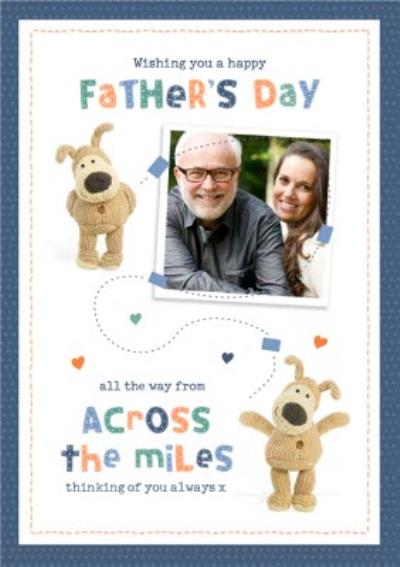Boofle Across The Miles Photo Upload Father's Day Card