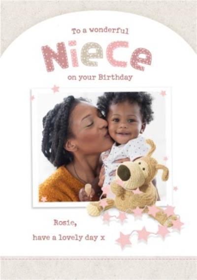 Boofle Wonderful Niece Photo Upload Birthday Card