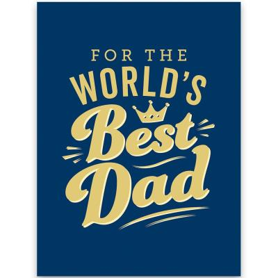 For the World's Best Dad Book